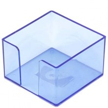 Бокс под бумагу для заметок «Юниопт», 85×85×50 мм, прозрачный синий