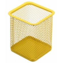 Стакан для канцелярских принадлежностей Optima, 100×80 мм, желтый