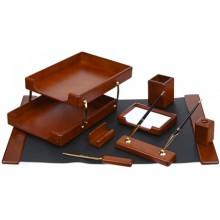 Набор настольный из 8 предметов Cabinet, дерево, коричневый