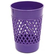 Стакан для канцелярских принадлежностей «Карандашница», 100×75 мм, фиолетовый