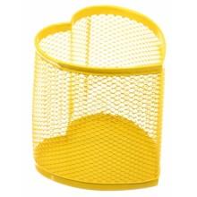 Стакан для канцелярских принадлежностей Optima, 90×90 мм, желтый
