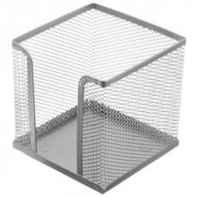 Бокс под бумагу для заметок Optima, 100×100×100 мм, серебристый