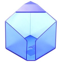 Бокс под бумагу для заметок «Статус», 90×90 мм, прозрачный синий