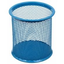 Стакан для канцелярских принадлежностей Optima, 90×90 мм, голубой