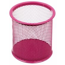 Стакан для канцелярских принадлежностей Optima, 90×90 мм, розовый