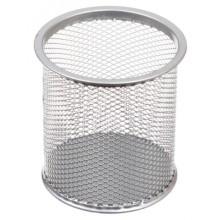 Стакан для канцелярских принадлежностей Optima, 90×90 мм, серебристый