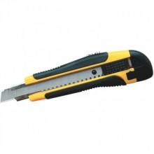 Нож канцелярский усиленный Forpus, ширина лезвия 18 мм, прорезиненный + 2 сменных лезвия, FO60714