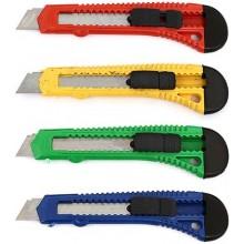 Нож канцелярский Sponsor, ширина лезвия 18 мм, ассорти (цена за 1 шт.)