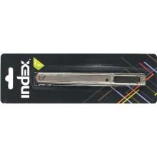 Нож канцелярский Index, ширина лезвия 9 мм