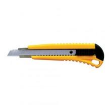 Нож канцелярский усиленный Silwerhof, 18мм 2 сменных лезвия, ассорти