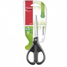 """Ножницы канцелярские Maped """"Essentials Green"""" , 170 мм, цвет ручек - черный"""