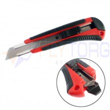 Нож канцелярский усиленный Laco C18C + 2 запасных лезвия , ширина лезвия 18 мм.