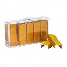 """Скобы для степлера """"Kangaro"""", №10, 1000 шт., желтый"""