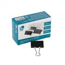 Зажим для бумаг Lite, 51 мм, до 240 л., черный