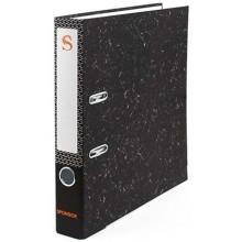 Папка-регистратор Sponsor «под мрамор», корешок 50 мм, черный