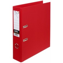 Папка-регистратор Index с двусторонним ПВХ-покрытием, корешок 70 мм, красный