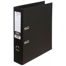 Папка-регистратор Index с двусторонним ПВХ-покрытием, корешок 70 мм, черный