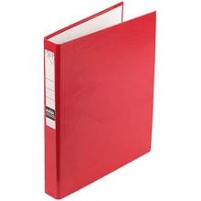 Папка-регистратор на 2 кольцах Index, корешок 35 мм, диаметр кольца 30 мм, красный