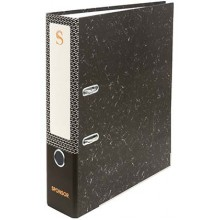 Папка-регистратор Sponsor «под мрамор», корешок 70 мм, черный
