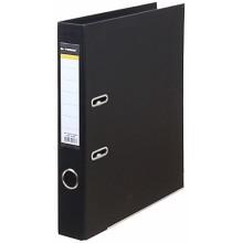 Папка-регистратор inФормат с двусторонним ПВХ-покрытием, корешок 55 мм, черный