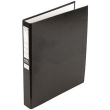 Папка-регистратор на 4 кольцах Index, корешок 35 мм, диаметр кольца 30 мм, черный