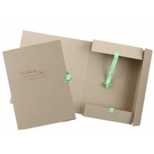 Папка картонная на завязках «Дело», А4, плотность 620 г/м², ширина корешка 60 мм, серая