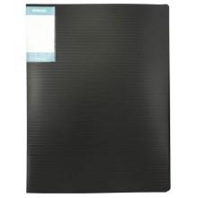 Папка пластиковая с пружинным скоросшивателем Stanger, толщина пластика 0,7 мм, черная