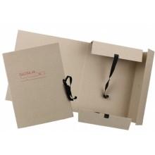 Папка картонная на завязках «Дело», А4, плотность 620 г/м², ширина корешка 80 мм, серая