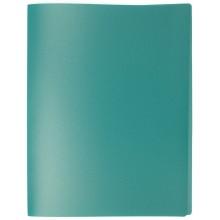 Папка пластиковая c боковым зажимом inФормат, толщина пластика 0,5 мм, зеленая