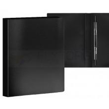 Папка пластиковая с пружинным скоросшивателем Proff, толщина пластика 0,35 мм, черная