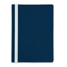 Папка пластиковая со скоросшивателем А4 inФормат, толщина пластика 0,18 мм, синяя