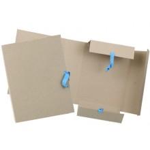 Папка картонная для бумаг «Дело» на 4-х завязках ширина корешка 90 мм