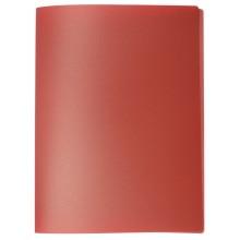 Папка пластиковая c боковым зажимом inФормат, толщина пластика 0,5 мм, красная