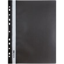 Папка пластиковая со скоросшивателем А4 Economix, толщина пластика 0,16 мм, черная