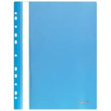Папка пластиковая со скоросшивателем А4 Stanger, толщина пластика 0,18 мм, голубая