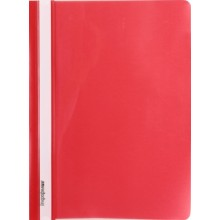 Папка пластиковая со скоросшивателем А4 inФормат, толщина пластика 0,15 мм, красный