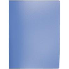 Папка пластиковая c боковым зажимом inФормат, толщина пластика 0,5 мм, синяя
