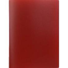 Папка пластиковая с пружинным скоросшивателем inФормат, толщина пластика 0,5 мм, красная