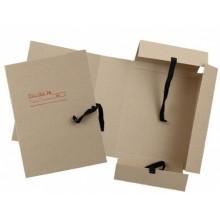 Папка картонная на завязках «Дело», А4, плотность 620 г/м², ширина корешка 100 мм, серая
