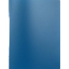 Папка пластиковая с пружинным скоросшивателем inФормат, толщина пластика 0,5 мм, синяя