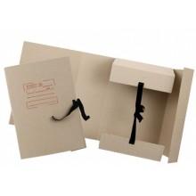 Папка картонная на завязках «Дело», А4, плотность 620 г/м², ширина корешка 120 мм, серая