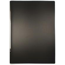 Папка пластиковая c боковым зажимом inФормат, толщина пластика 0,5 мм, черная