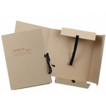 Папка картонная на завязках «Дело», А4, плотность 620 г/м², ширина корешка 70 мм, серая