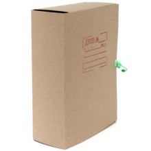 Папка картонная со скоросшивателем на завязках, А4, ширина корешка 100 мм, плотность 620 г/м², серая