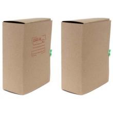 Папка картонная со скоросшивателем на завязках, А4, ширина корешка 120 мм, плотность 620 г/м², серая