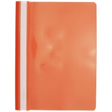 Папка пластиковая со скоросшивателем А4 inФормат, толщина пластика 0,18 мм, оранжевая