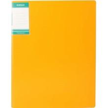 Папка пластиковая с пружинным скоросшивателем Stanger, толщина пластика 0,7 мм, желтая