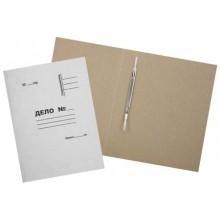 Папка картонная «Дело» со скоросшивателем, А4, плотность 420 г/м², немелованная, белая, металлический скоросшиватель