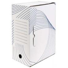 Короб архивный из гофрокартона с флексопечатью, корешок 150 мм, 322×150×240 мм, белый