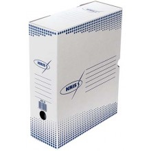 Короб архивный из гофрокартона Kris, корешок 100 мм, 325×260×100 мм, белый